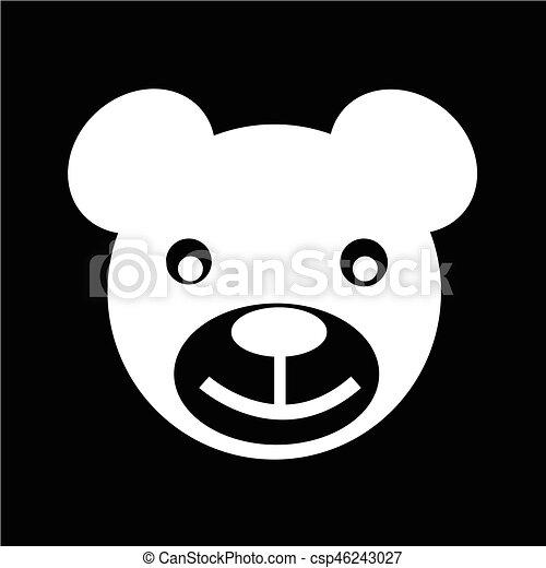 bear icon Vector Illustration - csp46243027