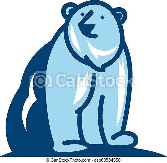 Bear Logo Icon Design - csp63584350
