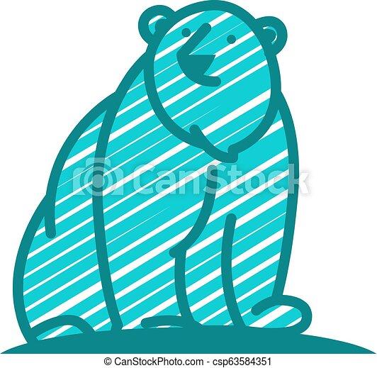 Bear Logo Icon Design - csp63584351