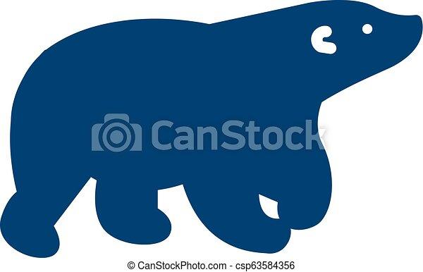Bear Logo Icon Design - csp63584356