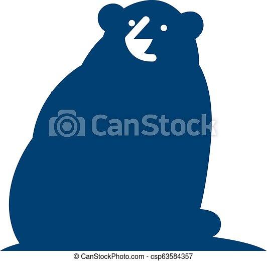 Bear Logo Icon Design - csp63584357