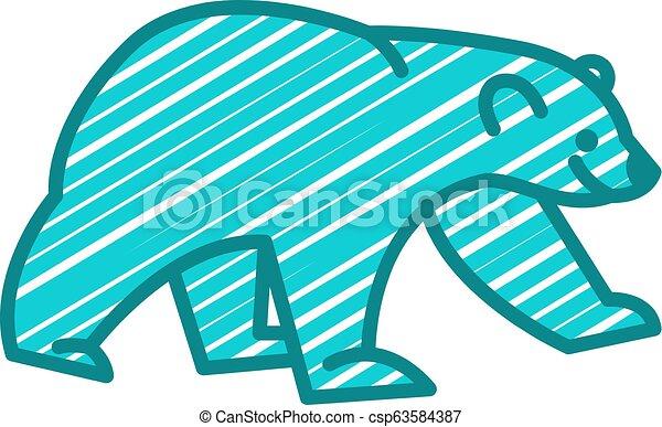 Bear Logo Icon Design - csp63584387