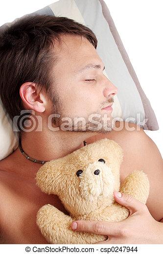 Bear Man Sleep - csp0247944