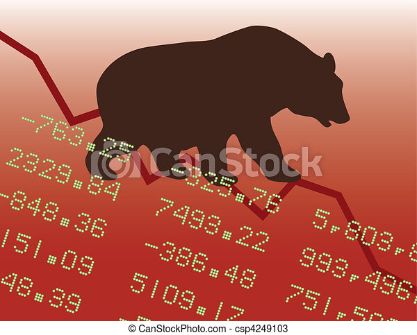 Bear Market in the Red - csp4249103