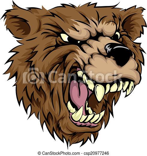 Bear mascot character - csp20977246