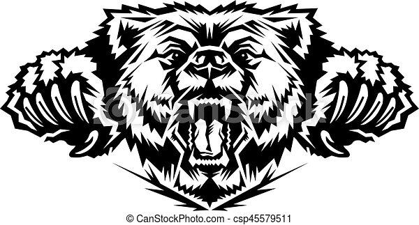 bear mascot head - csp45579511