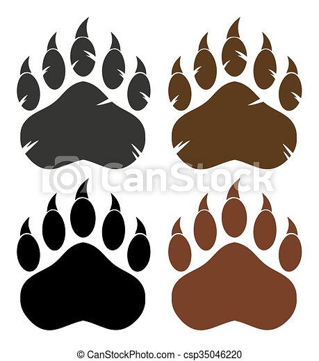 Bear Paw With Claws Collection - csp35046220