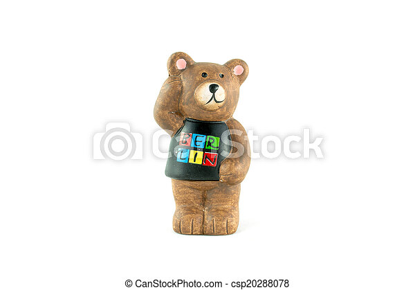 The Symbol Of Berlin Bear On White Background