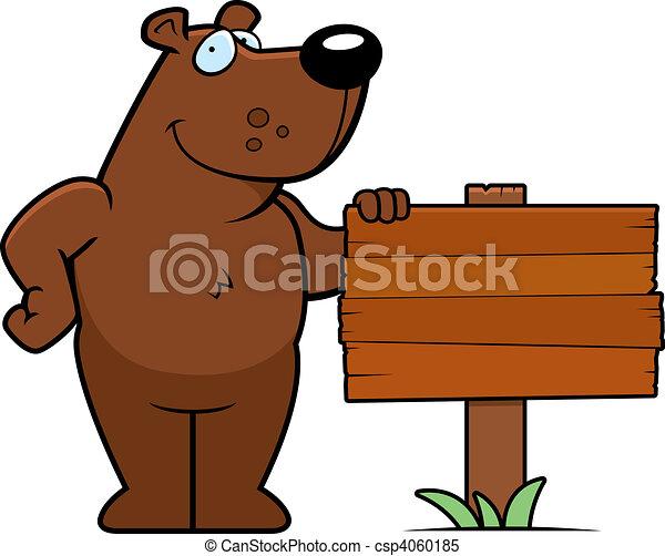 Bear Sign - csp4060185