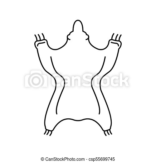 bear skin icon outline style csp55699745 - Outline Of A Bear