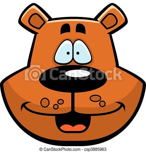 bear smiling a cartoon bear face smiling and happy vectors rh canstockphoto com cartoon bear face clipart cartoon bear face pictures