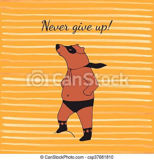 Bear super hero illustration in vector. - csp37681810