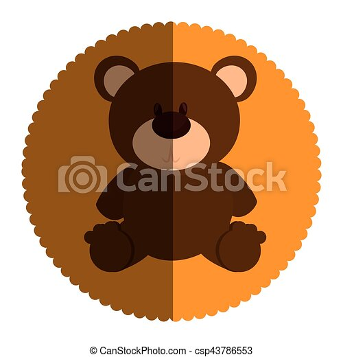 bear teddy toy icon - csp43786553