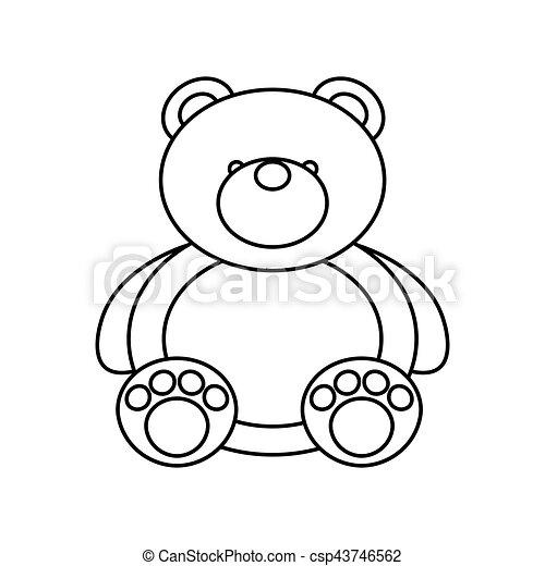 bear teddy toy isolated icon - csp43746562