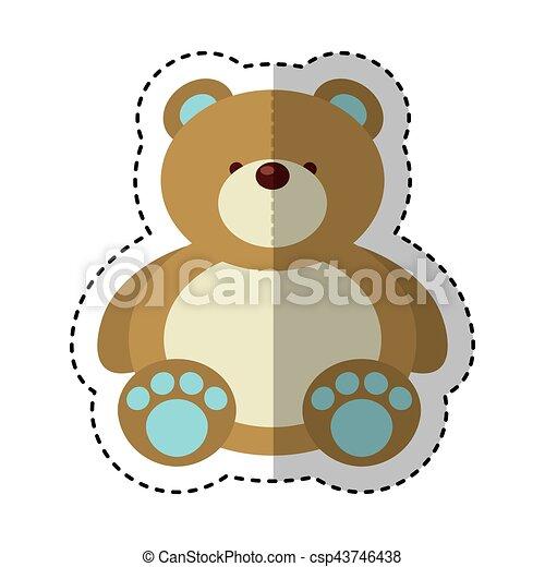bear teddy toy isolated icon - csp43746438