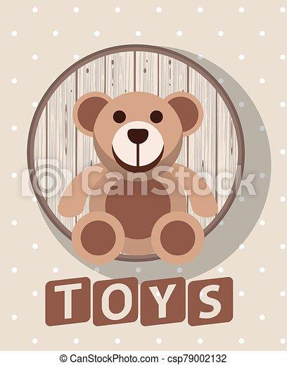 bear teddy toy isolated icon - csp79002132