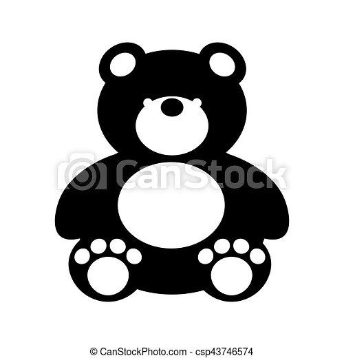 bear teddy toy isolated icon - csp43746574