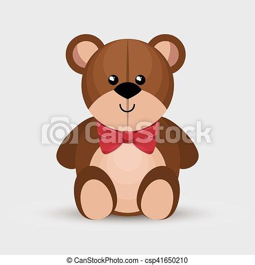 bear teddy toy isolated icon - csp41650210