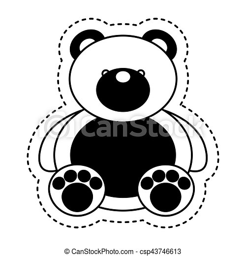 bear teddy toy isolated icon - csp43746613