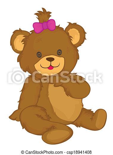 Bear Vector Cartoon Illustration - csp18941408