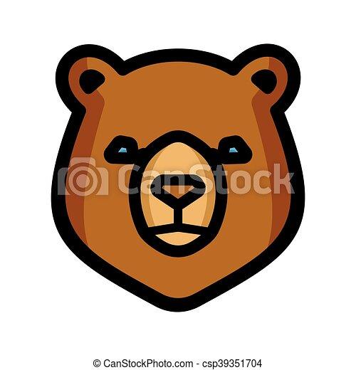 Bear vector icon - csp39351704