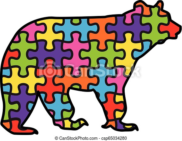 Bear With Autism Puzzle