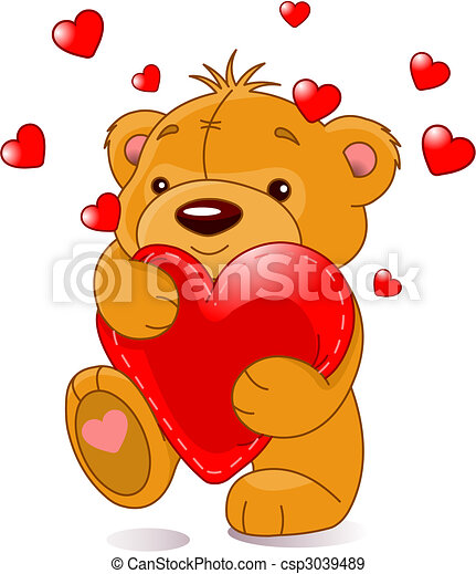 Bear with heart - csp3039489