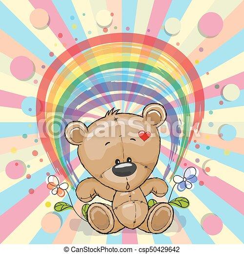 Bear with rainbow - csp50429642