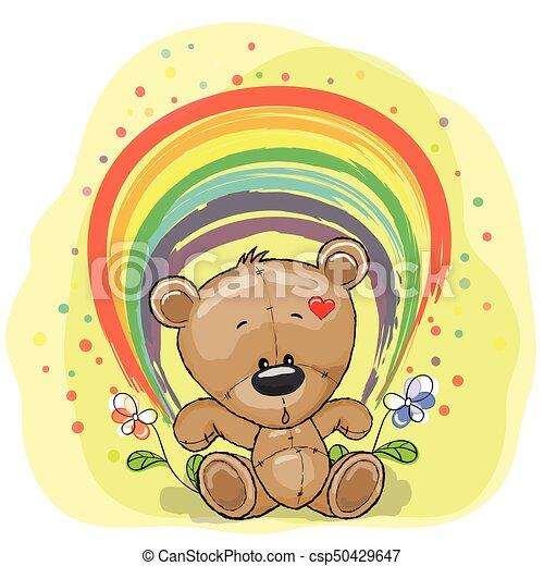 Bear with rainbow - csp50429647