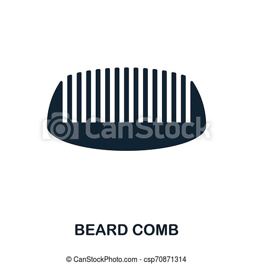 Beard Comb icon. Flat style icon design. UI. Illustration of beard comb icon. Pictogram isolated on white. Ready to use in web design, apps, software, print. - csp70871314