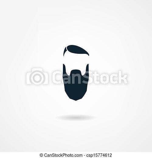 beard icon - csp15774612