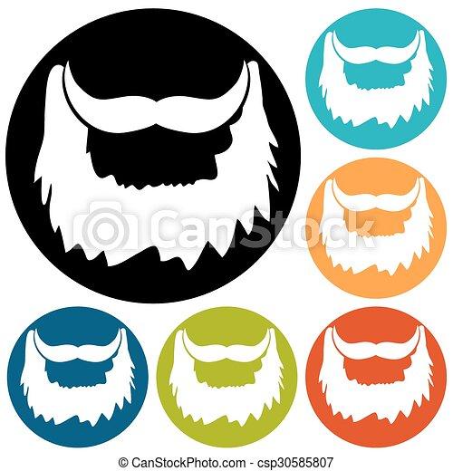 beard icon - csp30585807