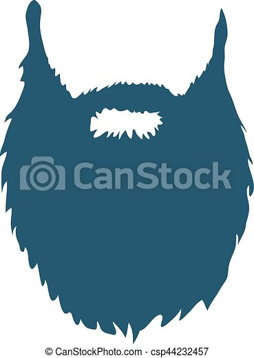 Beard isolated on white background Vector - csp44232457