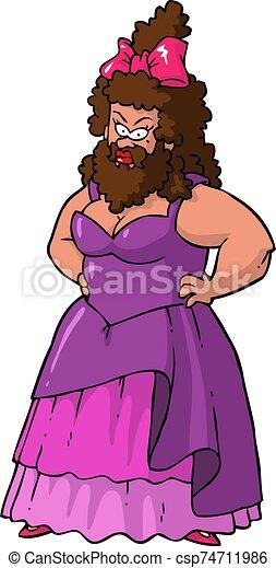 Bearded lady - csp74711986