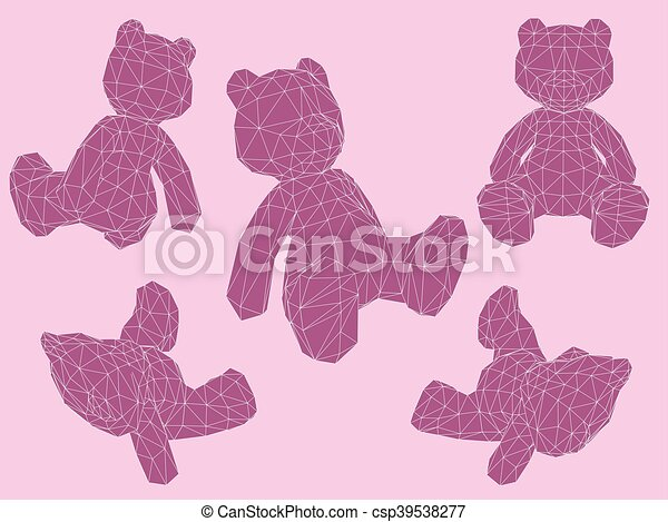 Bears in different positions - csp39538277