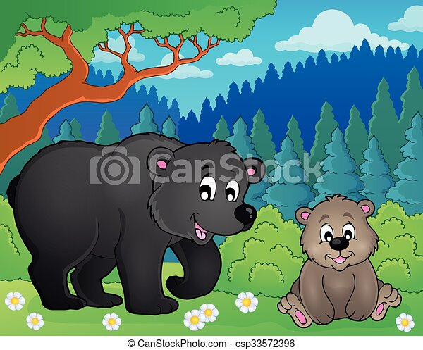 Bears in nature theme image 2 - csp33572396
