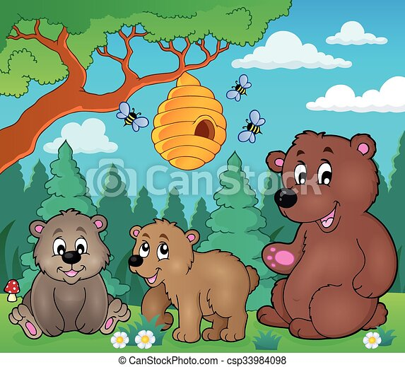 Bears in nature theme image 3 - csp33984098