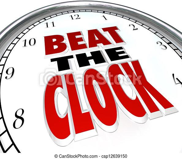 Beat the Clock Words Deadline Countdown - csp12639150