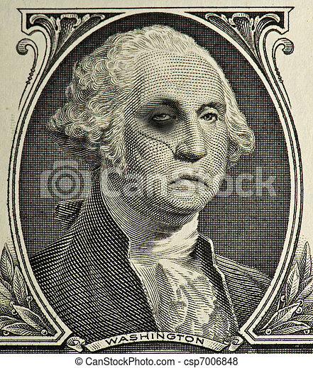 Beat Up George Washington - csp7006848