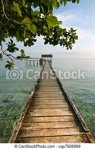 Beatiful boat dock - csp7926999