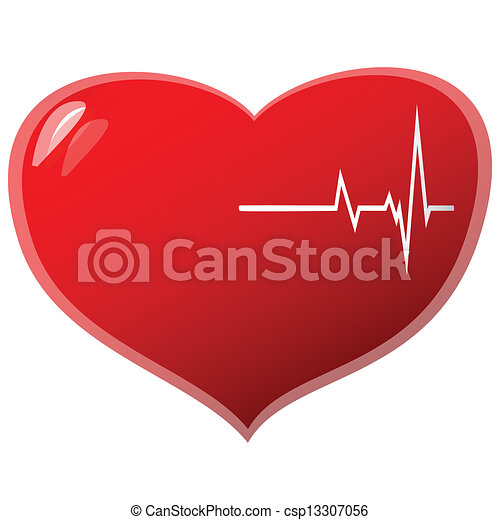beating heart beating heart concept on a white background vecotr rh canstockphoto com beating heart clipart for powerpoint beating heart clipart free