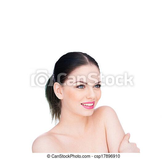 beau, épaules, femme, nu, jeune - csp17896910