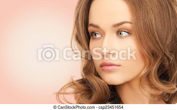 beau, épaules, femme, nu, jeune - csp23451654