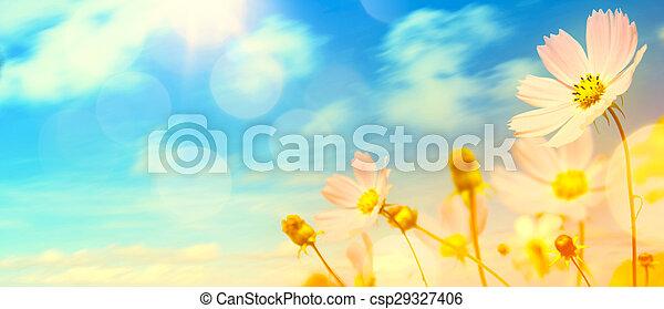 beau, été, fleurs, art, jardin - csp29327406