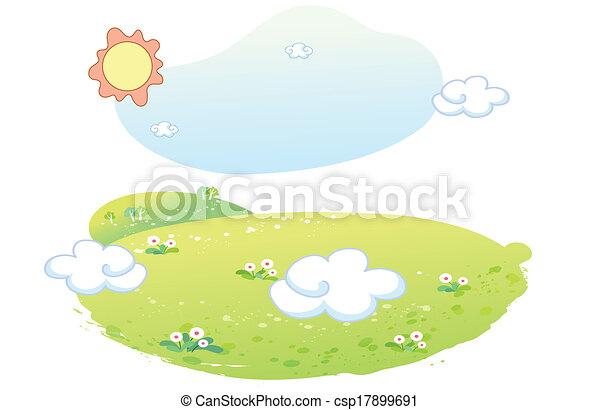 beau, été, paysage - csp17899691