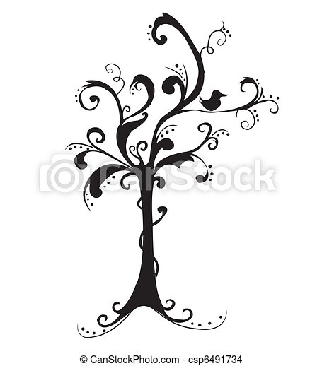 beau, art, arbre - csp6491734