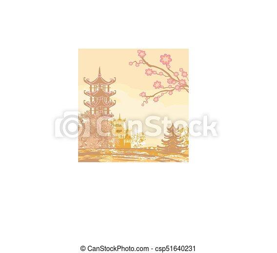 beau, asiatique, paysage - csp51640231