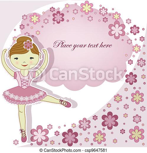 beau, ballerine, girl - csp9647581