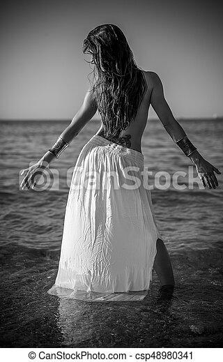 beau sensuelles puissance femme blanc brunette long plage wU06rgqw