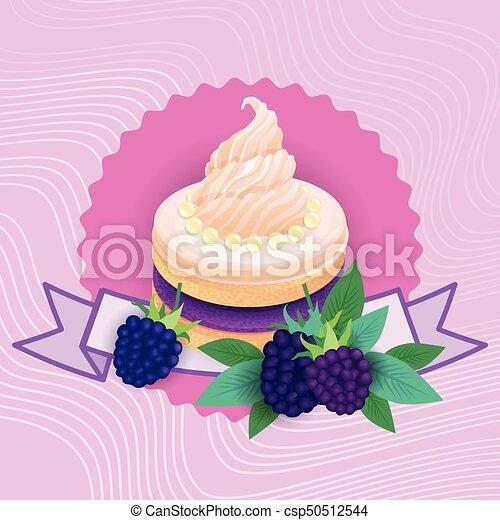 beau, coloré, nourriture, dessert, délicieux, doux, gâteau - csp50512544